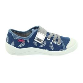 Befado buty dziecięce kapcie trampki 251y111 białe niebieskie szare