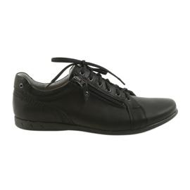 Czarne Riko buty męskie półbuty casualowe 856