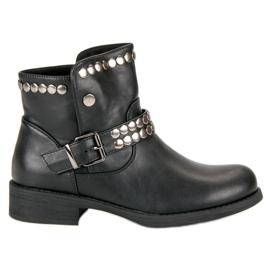 L. Lux. Shoes Rockowe Czarne Botki