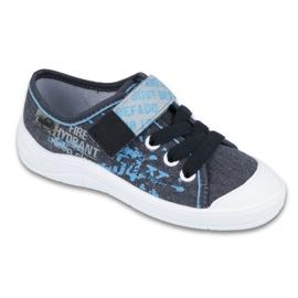 Befado obuwie dziecięce 251Y100 niebieskie szare