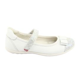 Białe Befado buty dziecięce balerinki 170Y019
