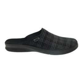 Czarne Befado buty męskie kapcie klapki 548m011