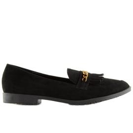 Mokasyny damskie czarne HW308 Black