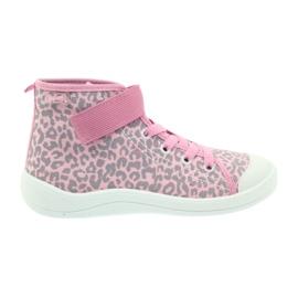 Befado buty dziecięce trampki 268x057 różowe szare