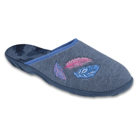 Niebieskie Befado kolorowe obuwie damskie 235D165