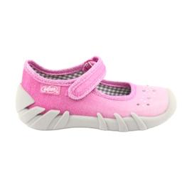 Różowe Befado obuwie dziecięce 109P171