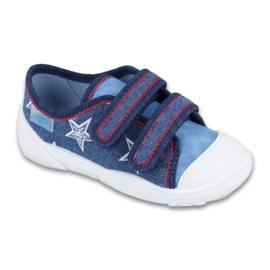 Befado obuwie dziecięce  907P100 niebieskie