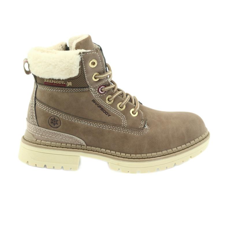 American Club American kozaki trzewiki buty zimowe 708122 brązowe