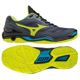 Buty do piłki ręcznej Mizuno Wave Stealth V M X1GA180047 szare czarny