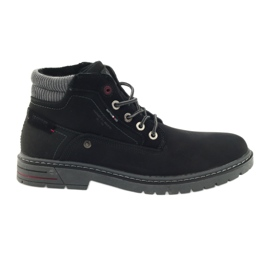 American Club American trapery buty zimowe trekkingi czarne