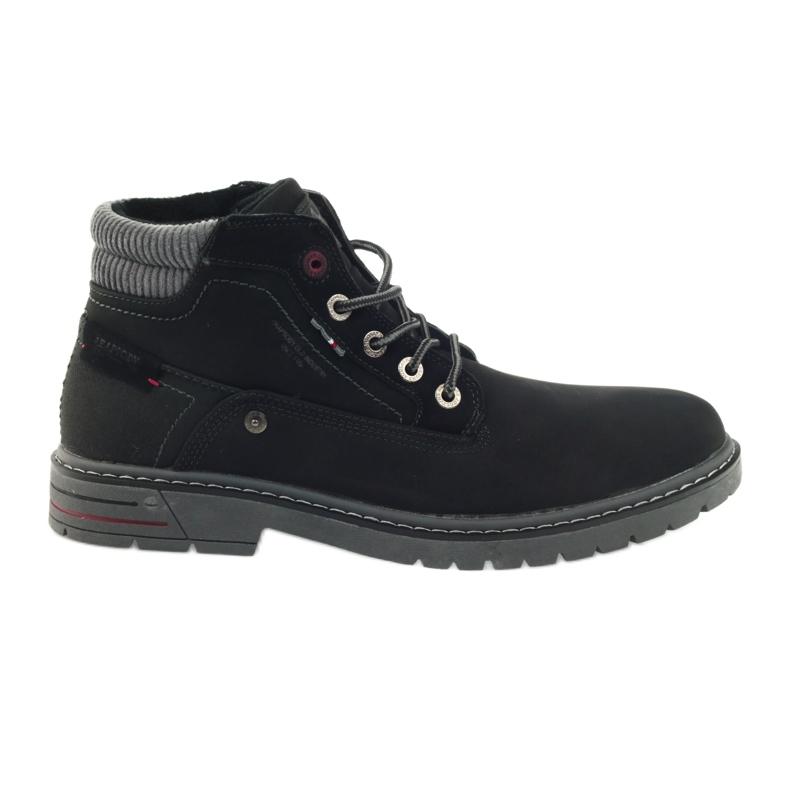 American Club czarne American trapery buty zimowe trekkingi