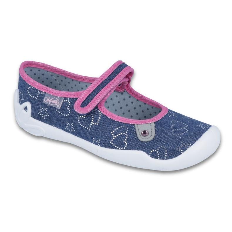 Befado obuwie dziecięce 114Y309 niebieskie różowe