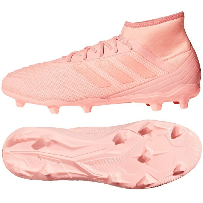 Buty piłkarskie adidas Predator 18.2 Fg różowe