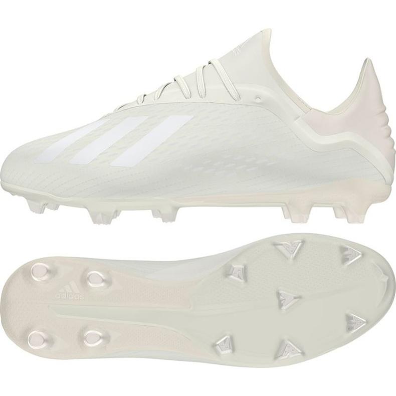 Buty piłkarskie adidas X 18.2 Fg M DB2181 białe