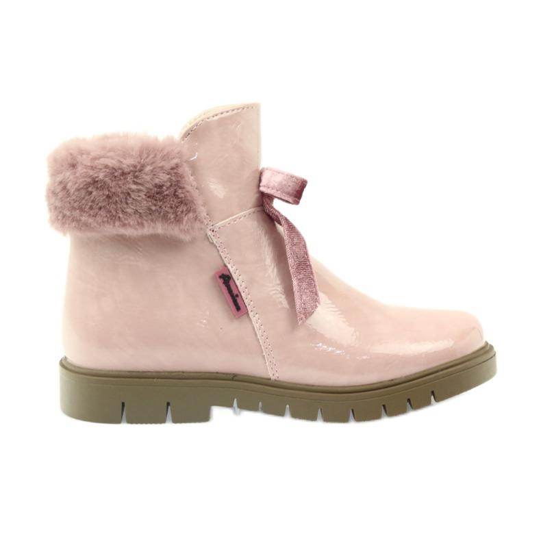 American Club American kozaki botki buty zimowe 18015 różowe