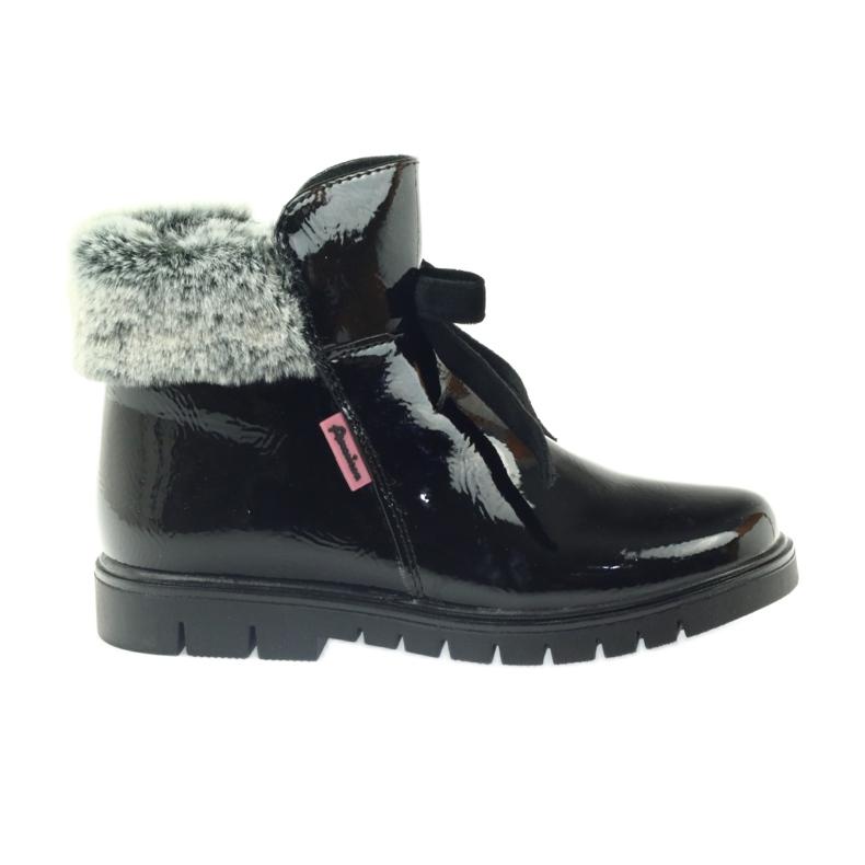 American Club American kozaki botki buty zimowe 18015 czarne