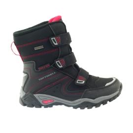 American Club American kozaki buty zimowe z membraną 1809 czarne czerwone