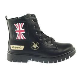 American Club American super Workery buty zimowe czarne żółte czerwone