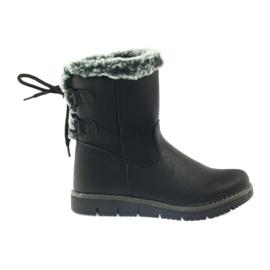 American Club czarne American kozaczki buty zimowe z puszkiem