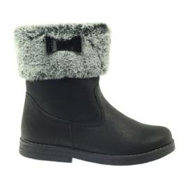 American Club czarne American kozaczki buty zimowe z futerkiem
