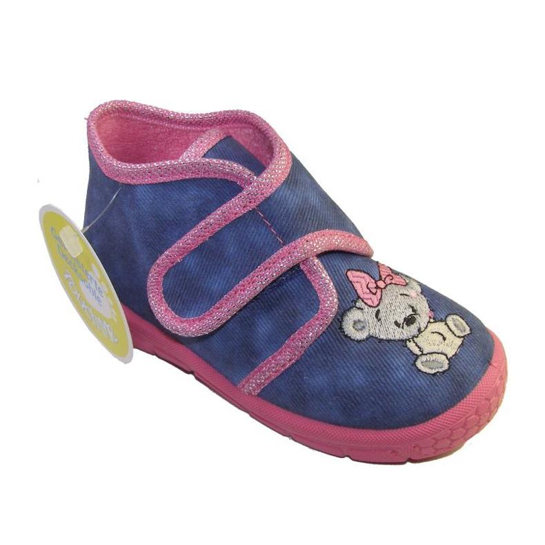 Befado obuwie dziecięce 529P064 niebieskie różowe