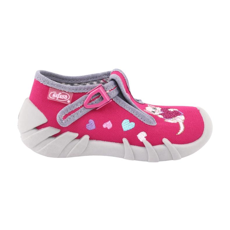 Befado obuwie dziecięce 110P335 różowe szare