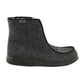Szare Befado obuwie damskie pu 996D004