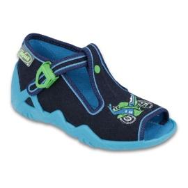 Befado obuwie dziecięce 217P095 zielone granatowe