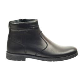 Riko botki buty męskie na suwak 825 czarne
