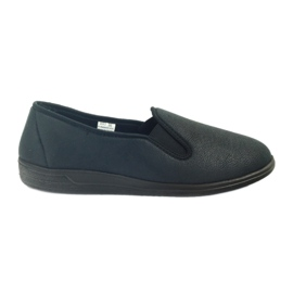 Czarne Befado buty męskie tenisówki kapcie 013M312