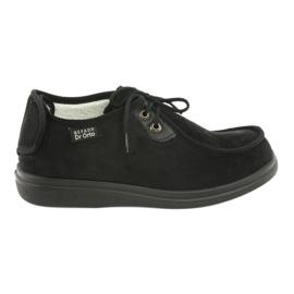 Czarne Befado obuwie damskie pu 387D005