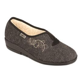 Befado obuwie damskie pu 940D357 brązowe