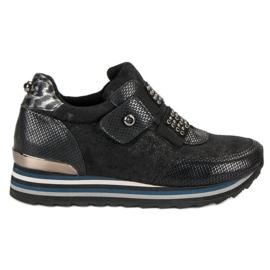 Aclys Botki Sneakersy czarne