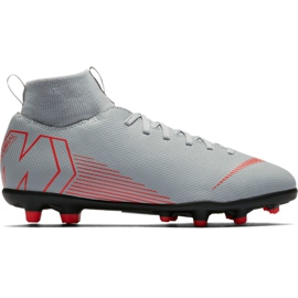 Buty piłkarskie Nike Mercurial Superfly 6 Club Mg Jr AH7339 060 biały białe białe