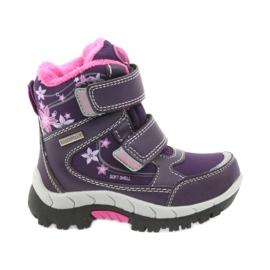 American Club fioletowe American kozaki buty zimowe z membraną 3121