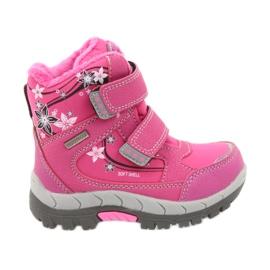 American Club American kozaki buty zimowe z membraną 3121 różowe
