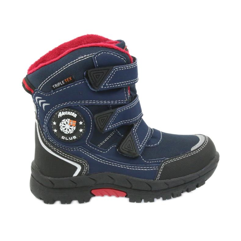 American Club American kozaki buty zimowe z membraną 0926 czarne czerwone granatowe