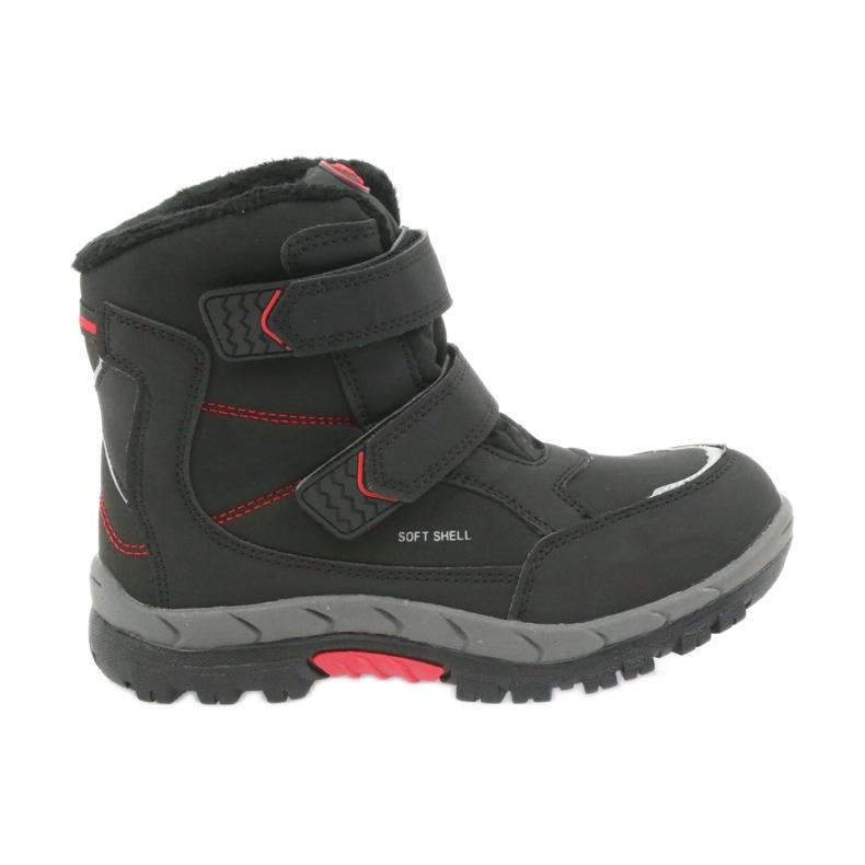 American Club American kozaki buty zimowe z membraną 3123 czarne czerwone