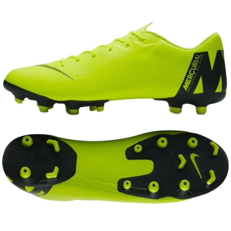 Buty piłkarskie Nike Mercurial Vapor 12 Academy Fg M AH7375-701 żółte żółte