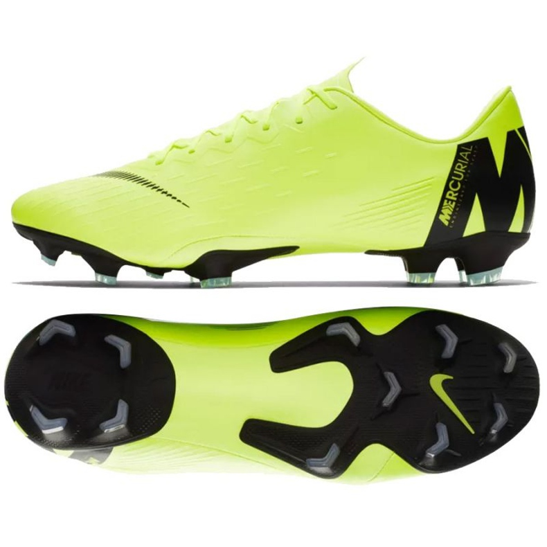 Buty piłkarskie Nike Mercurial Vapor 12 Pro Fg M AH7382-701 żółte żółte