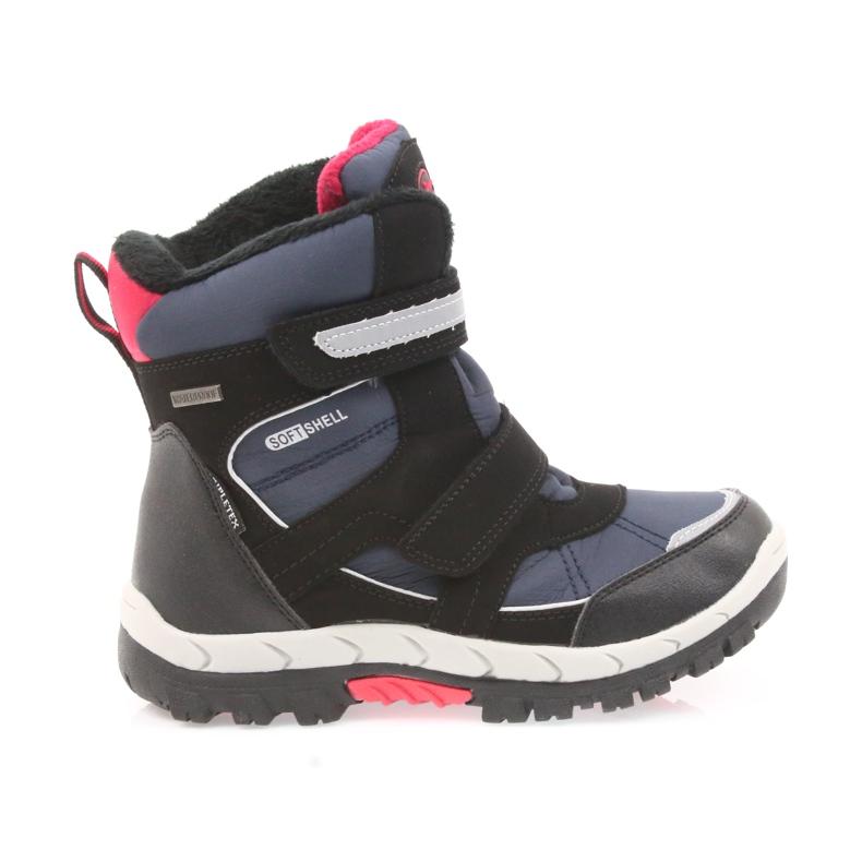American Club American kozaki buty zimowe z membraną 1813 czarne czerwone granatowe