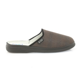 Befado buty męskie kapcie zdrowotne klapki 125m012 czarne brązowe