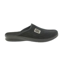 Befado buty męskie kapcie klapki 548m015 czarne