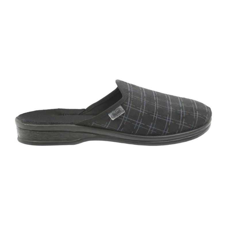 Befado buty męskie kapcie klapki 089M408 czarne