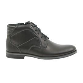 Czarne Riko buty męskie botki sztyblety 861