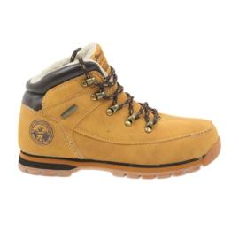 American Club American kozaczki buty zimowe 152619 camel żółte