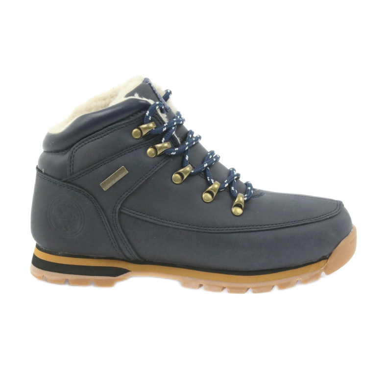 American Club American kozaczki buty zimowe 152619 granatowe
