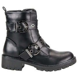 Sweet Shoes Czarne Workery