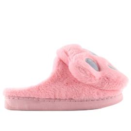 Kapcie damskie różowo-szare DD93 W.PINK różowe