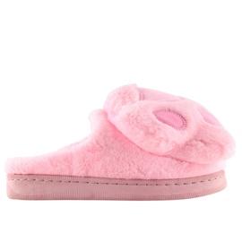 Kapcie damskie różowe DD93 Pink